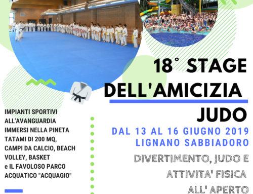 18° STAGE DELL'AMICIZIA JUDO 2019